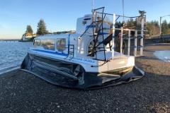 Explorer 24 Hovercraft landed at Steamboat Island WA