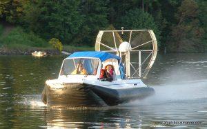 hovercraft on saltwater