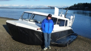 Hovercraft, Amphibious Marine Explorer 24 with VP Angela Phillips.