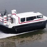 Hovercraft Amphibious Marine Explorer 24 underway.