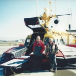 Hovercraft SRN-6 CCG at Vancouver Island Sea Base 1994 Bryan Phillips and Barry Palmer