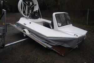 Hovercraft tilt trailer