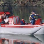 SAR hovercraft built by Sevtec and Amphibious Marine for Fall City.