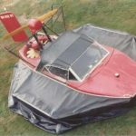 Barry Palmer's hovercraft known as the Red machine, Sevtec 1985.