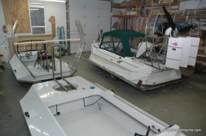 Amphibious Marine Hovercraft model 14-40hp under construction