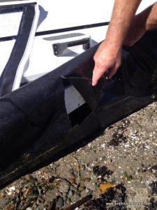 Hovercraft skirt inspection