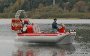 Prospector hovercraft, 80 hp at lake