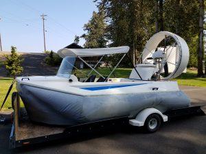 Vanguard hovercraft with Bimini