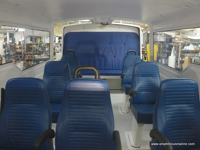 interior photo of Explorer 24 hovercraft