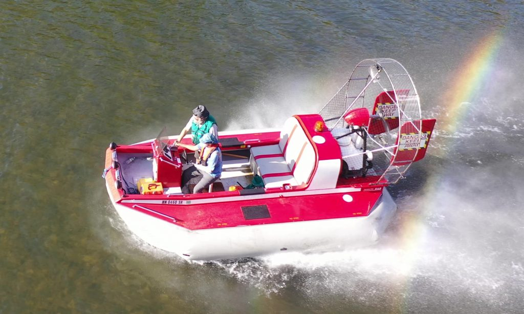 SAR hovercraft from above
